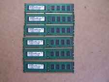 6x1GB  ELPIDA 1GB 1Rx8 PC3-8500U-7-10-AP Desktop Memory Stick EBJ10UE8BAFA-AE-E