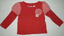 DINKY SOUVENIR Gold Rush girls Red White Gingham Flower TOP* 2 2T