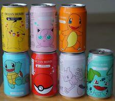 Pokemon Pokeball Jigglypuff Charmander Pikachu Bulbasaur Squirtle Mewtwo 7 Cans