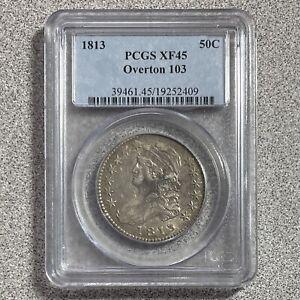 1813 50C Capped Bust Half Dollar PCGS XF45 Overton 103
