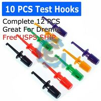 10 Pcs Lead Wire Kit Test Hook Clip Grabbers Test Probe SMT/SMD for Multimeter