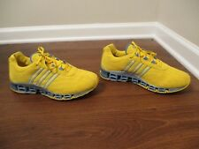 Classic 2005 Used Worn Men's Size 9 Adidas Megabounce Shoes Yellow Blue