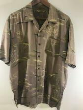 Tommy Bahama Size Medium Hawaiian Shirt Silk