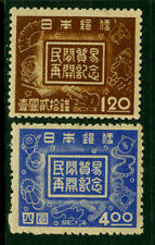 Japan 1947  REOPENING OF FOREIGN TRADE set  Sk# C106-107  MINT MH