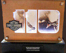 HARLEY DAVIDSON 110TH ANNIVERSARY LIGHTED DOUBLE SIDED LED PICTURE FRAME