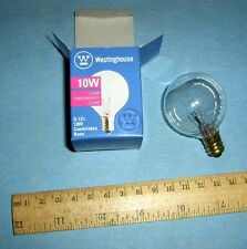 Lot 10 Westinghouse Clear Light Bulbs 03831 10W Candelabra Base, G12.5