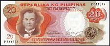 1969 PHILIPPINES 20 PISO BANKNOTE * P 811577 * UNC * P-145a *