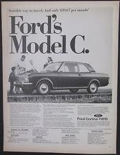 Ford Cortina Model C East Coast Dealer 1967 Vintage Print Ad