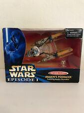 Star Wars Episode 1 Anakin Skywalker Pod Racer Fleet & Figure 1999 Galoob 70041