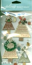 Christmas Tree Holiday Word Phrase Merry Season's Greetings Jolee's Stickers