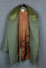 HERMES Men's Vintage Wool Shell Luxury Coat Leather Collar [SZ 52 or ~XXL*] VGC!