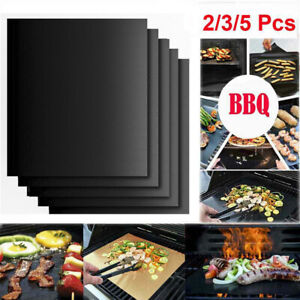 5 PACK Non-stick BBQ Grill Mat Reusable Barbecue Mats Baking Outdoor Grill Tool