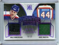 2017-18 LEAF IN THE GAME USED DYNAMIC DUOS 5/12 Dale Hawerchuk - Dave Babych