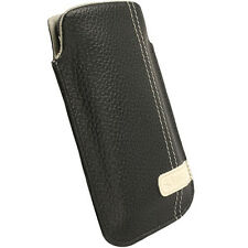 Krusell Gaia Leather Case Cover Pouch for Most PHONES - Black