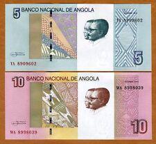 SET Angola, 5;10 Kwanzas, 2012 (2017), P-New, UNC > Waterfalls