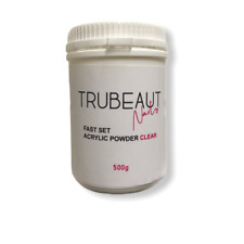 TRUBEAUT Nails FAST SET Clear Acrylic Powder 500g BULK BUY