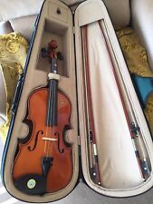 Antonio violin model ACV30 with two bows, resin and green case