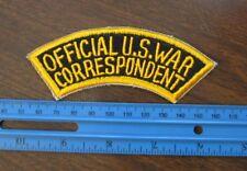 Official U.S.War Correspondent Patch Abzeichen US Navy Marines USMC WK2 WWII
