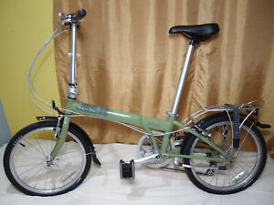 "Dahon Speed D7 20"" Wheel Green 4130 Chromoly 7 Speed Folding Bike Carrying Bag"