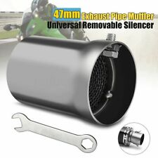 47MM Universal Motorcycle Exhaust Muffler Pipe Baffle Removable Insert Silence !