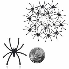 20pcs Plastic Spider Joking Toy Halloween Party Decor Realistic Prop 4.5 x 5 cm