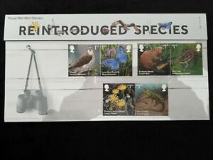 Royal Mail Stamps Presentation Pack 554 Reintroduced Species 2018 - Collectors