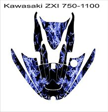 KAWASAKI ZXi 750 1100 jetski Jet Ski Graphic Kit Wrap pwc decals stickers blue