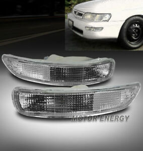 93-97 TOYOTA COROLLA FRONT BUMPER LIGHT LAMP JDM CLEAR DX LE TURN SIGNAL PARKING