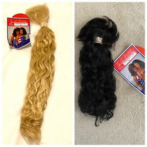 100% HUMAN HAIR 14, 16, 22 INCH WAVY FRENCH BULK - LA TREND