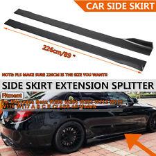 Car Side Skirt Splitter Extension For Mercedes Benz W205 W204 W212 A B C E Class