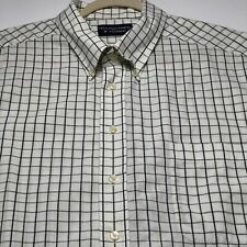 Roundtree Yorke Mens Short Sleeves Button Up Shirt 3XB Big Multicolor Grid Check