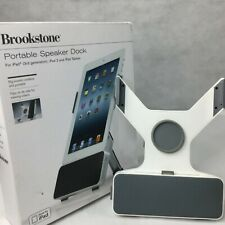 Brookstone Portable Speaker Dock For 3rd Generation iPads Stand Tablets