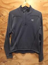Arc��teryx Polartec Fleece Lined Jacket Pullover 1/4 Zip Men��s M Battleship Gray