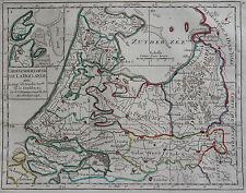 CARTE DE LA HOLLANDE, UTRECH, GUELDRE ,  ROBERT, ORIGINALE DE 1748