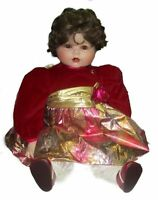 Marie Osmond Jessica's First Christmas Porcelain Toddler Doll 23 Inches 1993