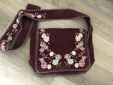 Embroidered Oasis Satchel Bag NWT