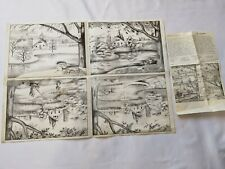"(4) Vintage Diy Tri-chem Artex Pictures to paint 9"" X 12"" 8426 Four Seasons"