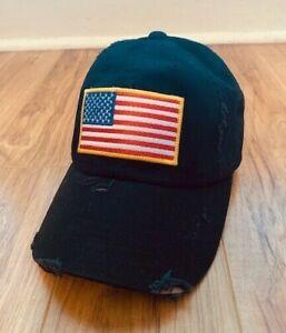 American Flag Baseball Cap Hat USA Distressed Low Profile Adjustable BRAND NEW!