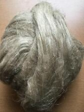 2OZ Unbleached, undyed flax / linen fiber roving, combed flax.
