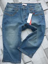 137 Sheego 7//8 Hose Jeans Damen Bermuda Caprihose Gr 40 bis 52 grau NEU
