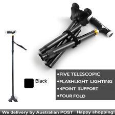 Sturdy Cane Buddy  Folding Walking Stick Adjustable Lightweight with LED Lights