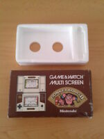 NINTENDO GAME&WATCH MULTISCREEN DONKEY KONG II JR-55 CAJA COMPLETA BOX+FOAM VER