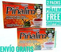2 PACKS PIÑALIM TEA MEXICANO WEIGHT LOSS DETOX 60 BAGS 3 G. EACH Exp 05/2024