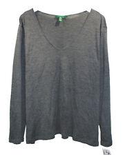 NEW Ralph Lauren Dark Gray V Neck Sweater sz 3X Silk Wool Knit