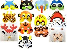 1x or 5x Kids ANIMAL HALLOWEEN Masks Fancy Dress Costume Party Bag Fillers Mask