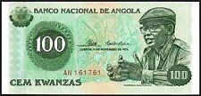 1976 Angola 100 Kwanzas Banknote * AN 161761 * gEF * P-111a *