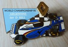 RARE PIN'S F1 FORMULA ONE RENAULT WILLIAMS ROTHMANS HILL ARGENTINE ZAMAC 50 EX