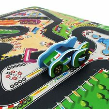 idrop Racing Track Foam Puzzle Mat with DIY Car for Babies Kids Children