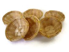 10 Small Wicker Bread / Crisp Basket Dollhouse Miniatures Supply Bakery Kitchen