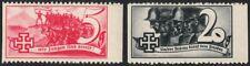 Österreich 1938 Schuschnigg Vignetten 5 Gr. rot 20 Gr. Grauschwarz postfrisch DB